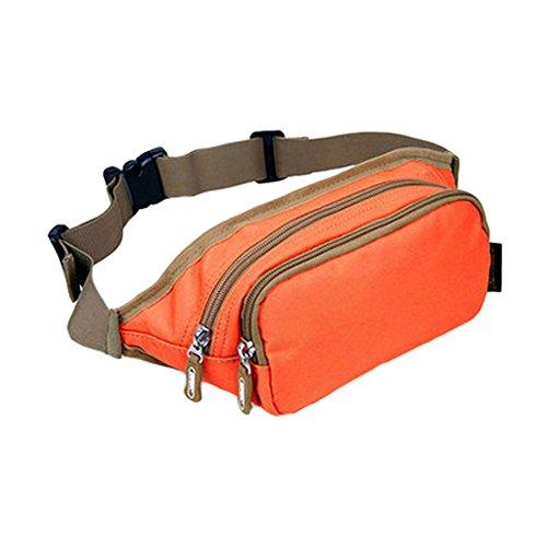 Pochette étanche avec fermeture éclair poches Fanny Pack taille sac pour randonnée/sport – Orange