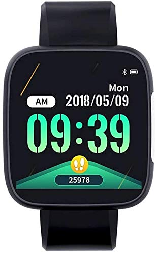 WUZHOOA Monitores de Actividad Pulsera Inteligente ECG, Vigilancia de la Salud Pulsera, Pulsera Natación Deportes Impermeable, Deportes Record, ECG función de monitorización (Negro)