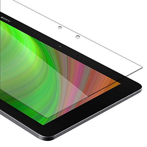 Cadorabo Pellicola Protettiva compatibile con Sony Xperia Tablet Z2 (10.1' Zoll) (SGP521) in ELEVATA TRASPARENZA - Vetro di protezione del display (Tempered) con durezza 9H con compatibilità 3D touch
