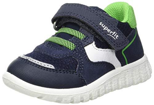 Superfit SPORT7 Mini Sneaker Lauflernschuh, BLAU/GRÜN, 25 EU
