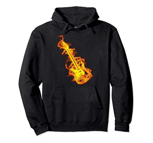 Guitarra Eléctrica Sobre El Fuego Regalo Amante De Guitarra Sudadera con Capucha