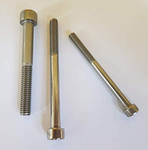 25 St/ück Zylinderschrauben//Zylinderkopfschrauben mit Innensechskant DIN 912 V2A Edelstahl M4//M5//M6//M8 //// EHK-Verbindungstechnik M6x10 Vollgewinde