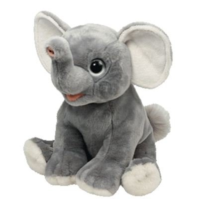 Éléphant de gris de l'AFRIQUE de classiques de meilleure peluche sauvage sauvage de Ty MINI