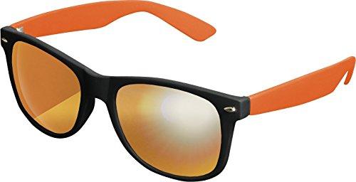 MSTRDS Likoma Mirror Unisex Sonnenbrille Für Damen und Herren mit verspiegelten Gläsern, black/orange/orange