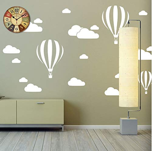 Cloud Helium Ballon muursticker voor kinderkamer, vinyl, wooncultuur, kinderkamer, decoratie slaapkamer, doe-het-zelf, afneembare cartoon 42 x 30 cm