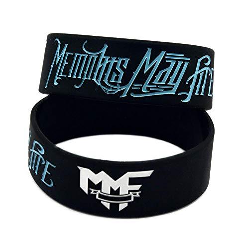 Siliconen Armbanden met Zeggen 'Memphis May Fire' Rubber Polsbanden voor volwassenen en kinderen Motivatie Set van 10 Stuks Perfect Verjaardagscadeau voor kinderen