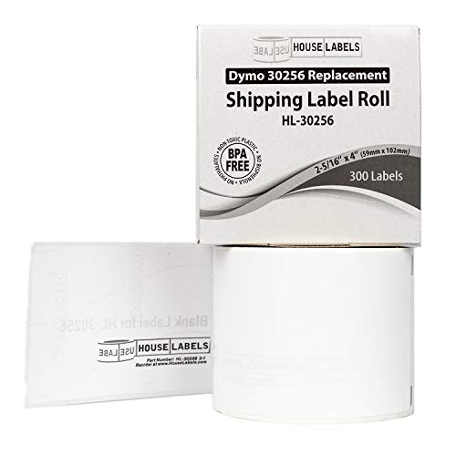 """HOUSELABELS Compatible DYMO 30256 Shipping Labels (2-5/16"""" x 4"""") Compatible with Rollo, DYMO LW Printers, 100 Rolls / 300 Labels per Roll Photo #5"""