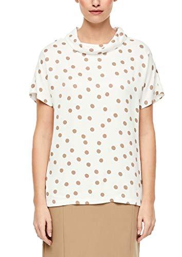 s.Oliver BLACK LABEL Damen 150.10.003.10.100.2038066 Bluse, Cream dot Print, 44