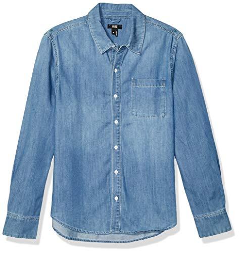 PAIGE Men's Bedford light Denim Shirt in blue