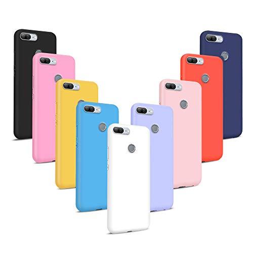 [9 Stücke] Huawei Honor 9 Lite Hülle, Ultra-dünn Einfarbig Weich Silikon TPU Handyhülle Helle Farben Schutzhülle Flexibel Matt Stoßfest Kratzfest Schutz Cover - 9 Farben