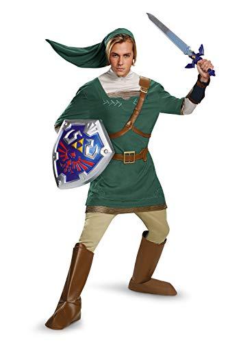Disguise Men's Legend Of Zelda Link Prestige Costume, Green, Medium