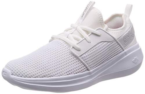 Skechers Women's Go Run Fast-Valor Sneakers, White, 8.5 Regular US