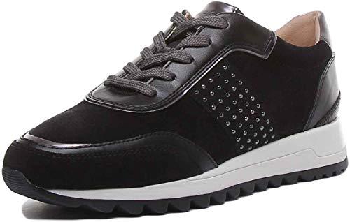 Geox D Tabelya A, Zapatillas para Mujer, Negro (Black/Gun C9b1g), 39 EU