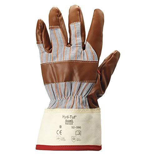 Ansell Inverno Hyd-Tuf guanti di nitrile 52-590 protezione dal freddo 6 paia, Dimensione:9