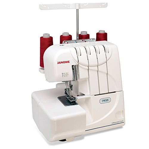 Janome Serger with Lay-In Threading, 3 and 4 Thread Convertible with Differential Feed