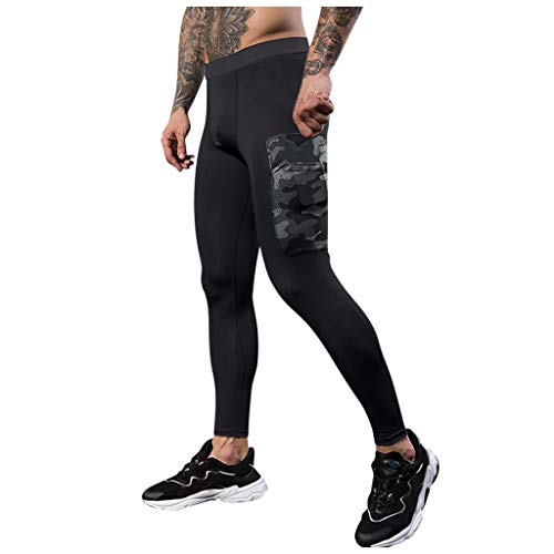 Cinnamou Hommes Formation Bodybuilding Workout Fitness Pantalon Long Pantalon de Sport à séchage serré Pantalons Vêtements de Sport