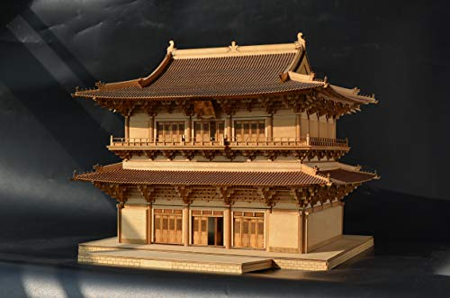 Old Cat Model 7505 1/75 The Guanyin Tower of Dule Temple 3D Wooden Puzzle Chinese Historic Architecture DIY Model kit, lerning Toy for Adults and Children Over 14 Years Old