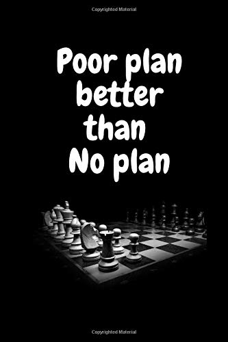 Poor plan better than plan: Poor plan better than plan, Lined notebook, 100 pages, high quality cover, (6*9) inches in size.