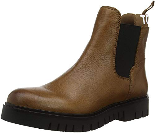 Tommy Hilfiger Damen Padded Tongue Chelsea Boot Stiefeletten, Braun (Winter Cognac Gvi), 41 EU