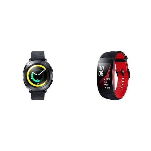 Samsung Bundle di San Valentino - Gear Sport Nero + Gear Fit 2 Pro Rosso