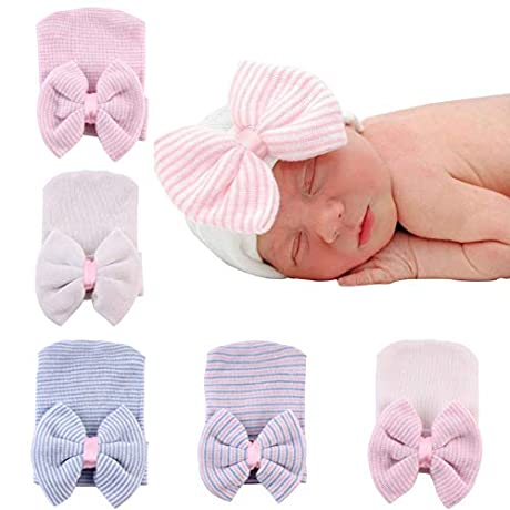40%OFF Newborn Hat with Bow
