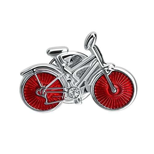 HCMA Spilla da Bicicletta con Smalto Rosso Distintivi con Spilla in Metallo di Alta qualità novità Spilla da Bavero Cappotto Accessori per Cappelli Regalo per Feste di Moda