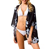 Strety Cárdigan De Gasa De Mujer Camisa Estampada con Protección Solar Estilo Playa Blusa De Bikini Suelta para Cubrir La Playa Benefit