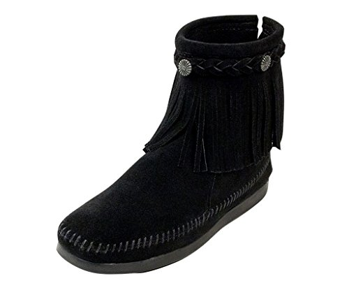 Minnetonka Hi Top Back Zip Boot 299, Damen, Stiefel, Schwarz (BLACK), EU 41 (US 10)