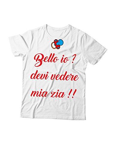 Tshirt da Neonato e Bambino Bello io? Devi Vedere mia Zia!! - Tutte Le Taglie by Tshirteria