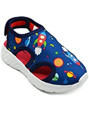 KazarMax Boys & Girls Space Dino Navy Lycra Sandal (Made in India) 2.5 Years to 9 Years