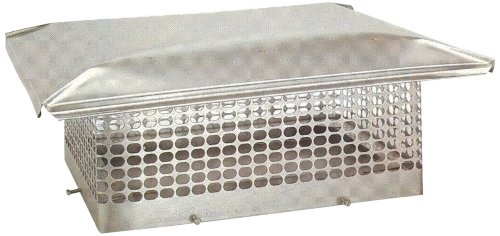The Forever Cap CCSS1414 13 x 13-Inch Stainless Steel 5/8-Inch Spark Arrestor Mesh Chimney Cap