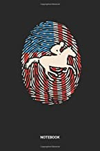 Notebook: USA Horse Riding Themed Notebook (6x9 inches) with Blank Pages ideal as a Red White Blue fingerprint American Flag Journal. Perfect as a ... and Racehorse lover. Great gift for Men&Wo