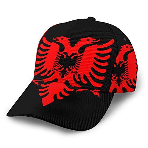 Hysteresenh,Baseballkappe,Visier Baseball Mützen,Verschluss Für Herren,Albanische Flagge Verstellbare Snapback-Kappe,Klassische Hip-Hop-Hüte