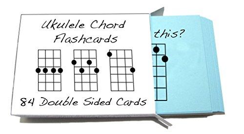 Tarjetas didácticas con acordes para ukelele, 84tarjetas (para ukulele soprano, concierto y tenor)