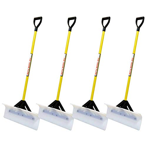 Best Deals! 4PK Snow Plow 24 Wide Shovel Push Plow Commercial Residential D-Grip 50524