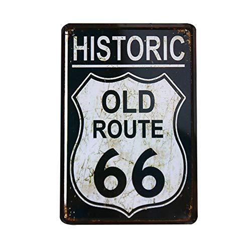 kentop Cartel de chapa metal placa pared Cartel Vintage autopista caracteres Decoración de pared para bar, comedor, billar de hogar, hotel, Club