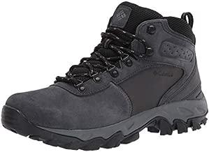 Columbia Men's Newton Ridge Plus II Suede Waterproof Hiking Boot Shoe, Shark, Black, 14
