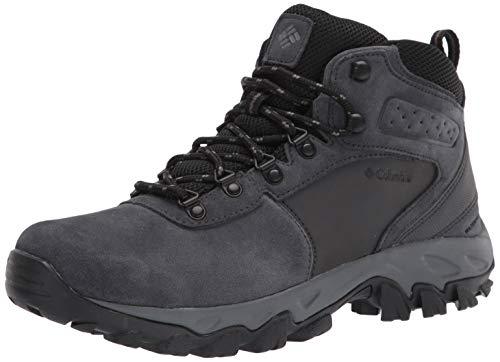 Columbia Men's Newton Ridge Plus II Suede Waterproof Hiking Boot Shoe, Shark, Black, 9