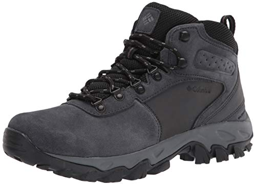 Columbia Men's Newton Ridge Plus II Suede Waterproof Hiking Boot Shoe, Shark, Black, 14