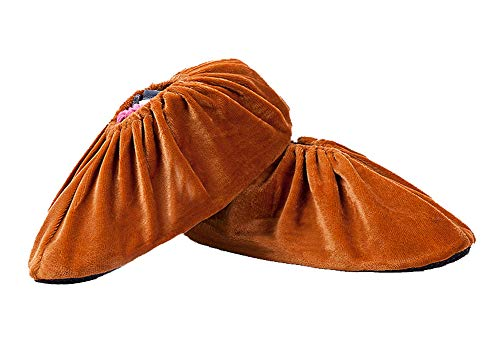 Couverture de chaussure de velours de ménage, couverture intérieure imperméable de chaussure-marron