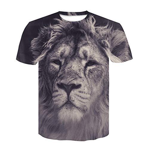 T-fashion shop TIK Tok Mismo Estilo,Lobo Cabeza 3D Camiseta Manga Corta Cuello Redondo Impreso digital-31_L