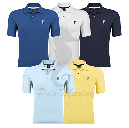Kit 05 Camisetas Gola Polo - Polo Marine (Kit 05, GG)
