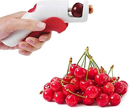 ZHUYU Cherry Pitter o Stoner, Aceitunas de cerezo y ciruelas Core o Semilla Eliminar, Cherry Pitter Jujube Herramienta de picadura Cherry Stoner Pitter Core Remover Cocina portátil Herramientas de coc