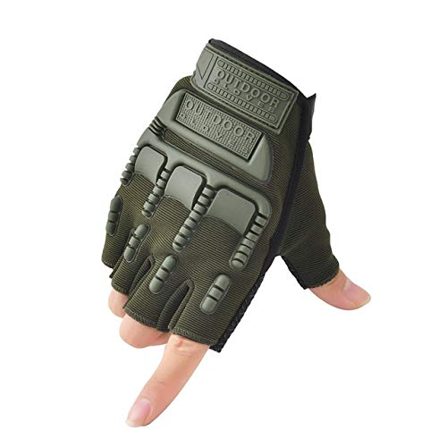Guantes sin Dedos, Mitones de Camuflaje para Fitness, Motocicleta Antideslizante para Hombre, Guantes de Medio Dedo para Mujer y Hombre-A19-L