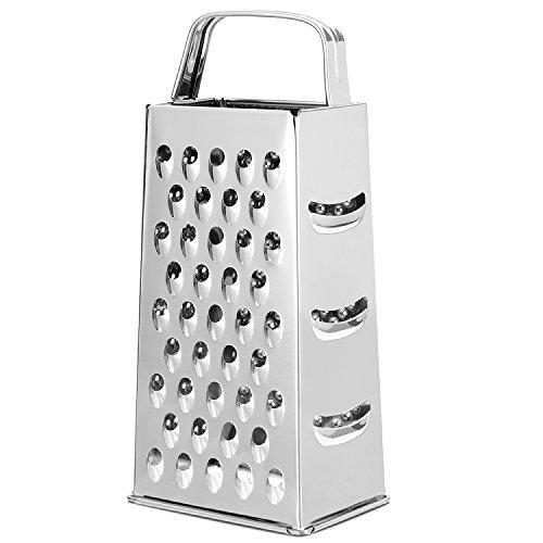 KLAGENA Râpe à 4 Faces, idéale pour râper ou émincer Toutes Sortes de légumes et fromages/Petites et Grosses lamelles/Râpe à 4 Faces en INOX, Râpe à Usage Multiple
