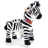 PonyCycle Officiel Classique Modèle U 2021 Monter à Cheval Animal Qui Marche Zebra à Roues avec Frein et Son pour 3 à 5 Ans Petit Ux368