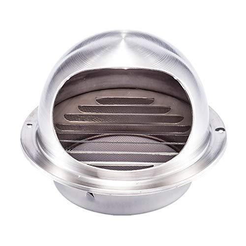 QWEASDF (Ø 60-300 mm) Ventilación Aire Acero Inoxidable Toro Redondo Extractor Externo Extractor Pared ventilación Tapa Salida para Pisos, apartamento, baño Dormitorio, decoración del hogar,300mm