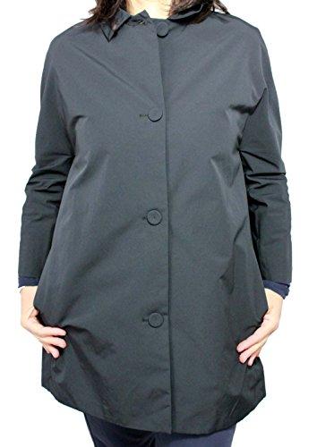 ASPESI Giaccone Donna Modello Ross Blu Esterno 53% Cotone 47% Poliestere (XXL, Blu)