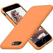 Cordking iPhone 8 Plus Case, iPhone 7 Plus Case, Silicone Ultra Slim Shockproof Phone Case with [Soft Anti-Scratch Microfiber Lining], 5.5 inch, Kumquat