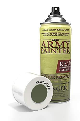 The Army Painter | Base Primer Army Green | Spray Acrilico Base per Pittura di Modellini in Miniatura | Verde